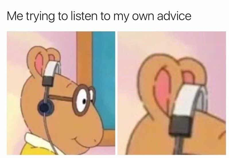Take your own advice