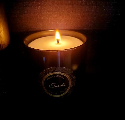 Tuxedo Massage Candle
